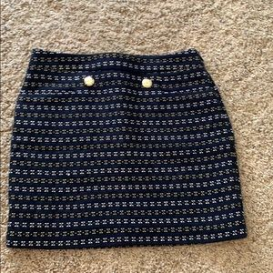 Mini structured skirt